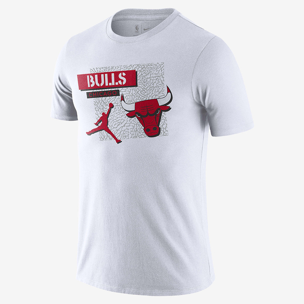 NIKE Jordan Dri-FIT NBA 男裝 短袖 籃球 芝加哥公牛隊 針織 乾爽 白【運動世界】DA6611-100