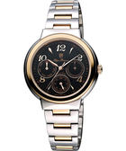 Olympianus 奧柏 時尚日曆女錶-黑/雙色版 5686MCRSR