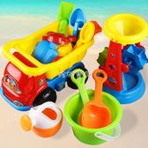 兒童戲水玩具 沙灘戲水玩具車套裝大號寶寶桶鏟子玩沙挖沙 珍妮寶貝