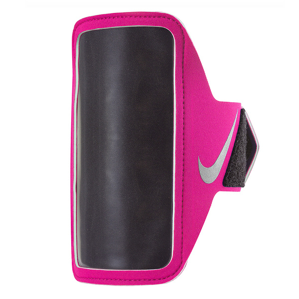Nike Lean Arm Band [NRN65619OS] 運動 慢跑 自行車 輕量 手機 臂包 5吋 粉紅 銀