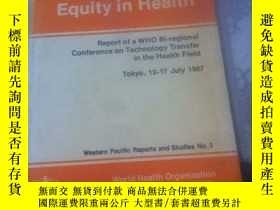 二手書博民逛書店Interdependence,Partnership罕見and Equity in HealthY21714