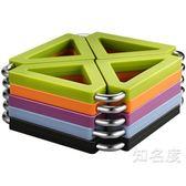 隔熱墊 隔熱墊 餐桌墊家用盤子碗墊子硅膠杯墊不銹鋼鍋墊防水耐熱防燙墊 5色