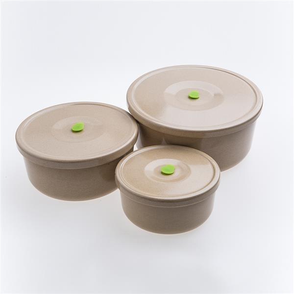 稻殼極簡保鮮盒(三件組) 【美國Husk'sWare】