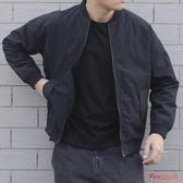 棒球服 春秋季外套男潮日系黑色薄款立領夾克男韓版潮流棒球服寬鬆百搭T 4色