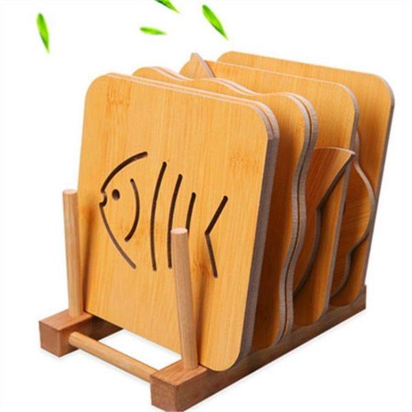 木質餐墊隔熱墊創意餐桌墊盤子墊子家用