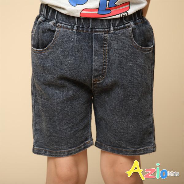 Azio 男童 短褲 基本款鬆緊牛仔短褲(黑) Azio Kids 美國派 童裝