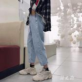 牛仔褲 秋季牛仔褲男長褲做舊寬鬆直筒日系百搭青少年潮流工裝褲 CP2544【野之旅】