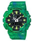 CASIO G-SHOCK 全新專屬衝浪潮汐功能雙顯腕錶 綠 GAX-100MB-3ADR