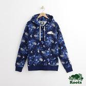 Roots - 男裝 - ROOTS 滿版植物印花連帽上衣 - 藍色