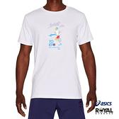 Asics 藍色 棉質 東京奧運 短袖 T恤 男女款 NO.H2876【新竹皇家 2191A254-101】