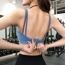 運動內衣 夏運動內衣女防震跑步胸衣聚攏定型健身文胸bra美背瑜伽U型背心-Ballet朵朵