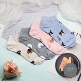 現貨✶正韓直送【K0287】韓國襪子 粉嫩滿版狗頭短襪 韓妞必備 百搭款 素色襪 免運 阿華有事嗎