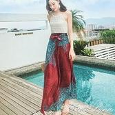 泰國波西米亞ins超火的半身裙中長款蛋糕裙不規則a字款魚尾裙半身 范思蓮恩