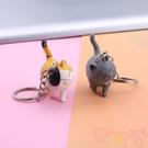 買一送一小貓咪鑰匙扣短毛貓鑰匙圈包包【聚可愛】