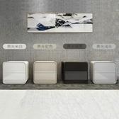 床頭櫃 ins床頭櫃整裝免安裝帶鎖北歐簡約現代白色實木灰色床邊櫃輕奢風