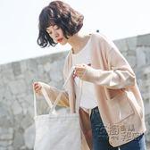 毛衣外套女春秋新款韓版寬鬆學生長袖加厚短款純色針織衫開衫 衣櫥秘密