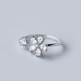 戒指 925純銀 鑲鑽-繽紛亮眼生日情人節禮物女開口戒73dt173【時尚巴黎】