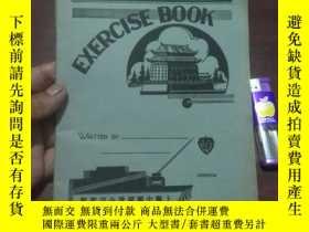 二手書博民逛書店老本子:民國練習本罕見( exercise book ) 上海中