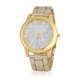 時尚羅馬字面假三眼鋼帶手錶 199元
