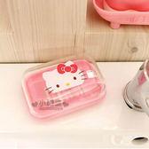 〔小禮堂韓國館〕Hello Kitty 附蓋香皂盒《粉.大臉.透明蓋》8805396-11011