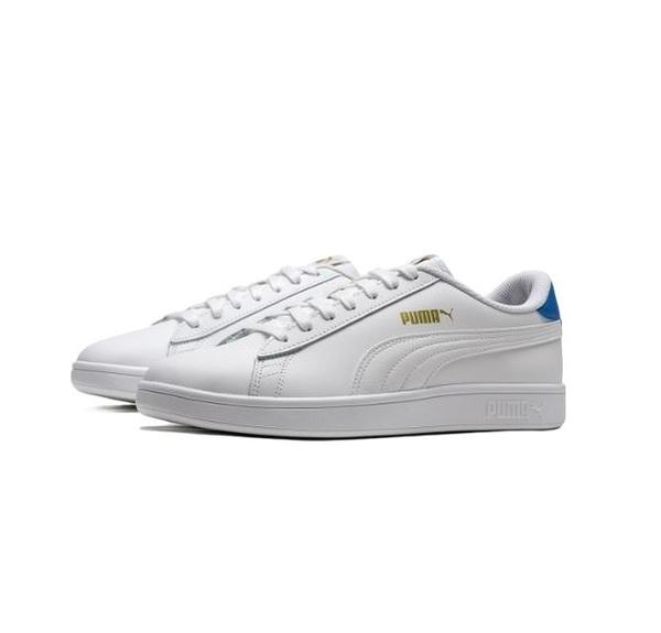 PUMA SMASH V2 L 男款白藍色休閒鞋-NO.36521518