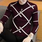 毛衣 針織衫 男士毛衣青年薄款針織衫潮流圓領打底男裝韓版修身毛線衣【快速出貨八折搶購】