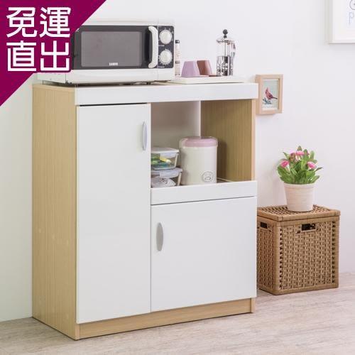 優居家 鏡面雙門五格廚房收納櫃【免運直出】