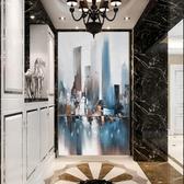 3d立體抽象玄關墻紙個性藝術創意豎版壁畫客廳走廊過道背景墻壁紙