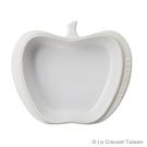 【LE CREUSET】瓷器迷你蘋果造型烤盤(棉花白)