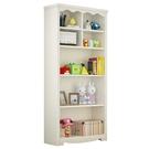 書櫃書架簡約落地置物架白色實木兒童書架創意收納櫃xw