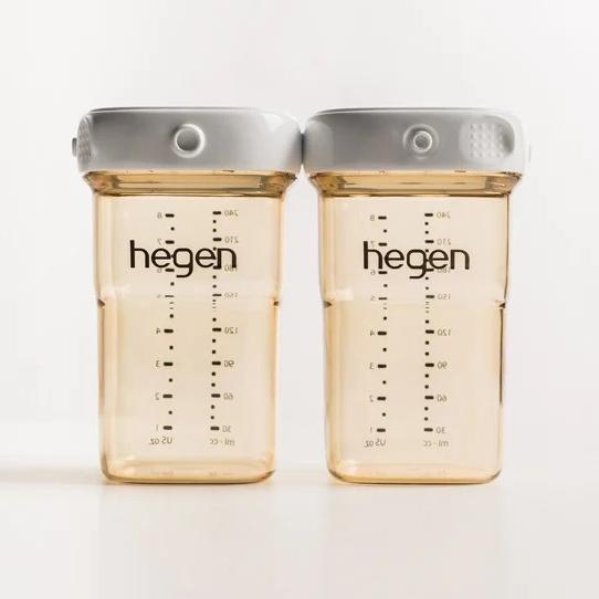 新加坡 hegen 小金奶瓶/金色奇蹟PPSU多功能萬用瓶240ml(雙瓶組)[衛立兒生活館]