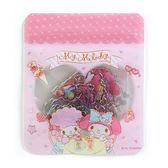 〔小禮堂〕美樂蒂 造型透明貼紙組《粉.點點.下午茶》裝飾禮物.夾鏈袋 4901610-20523