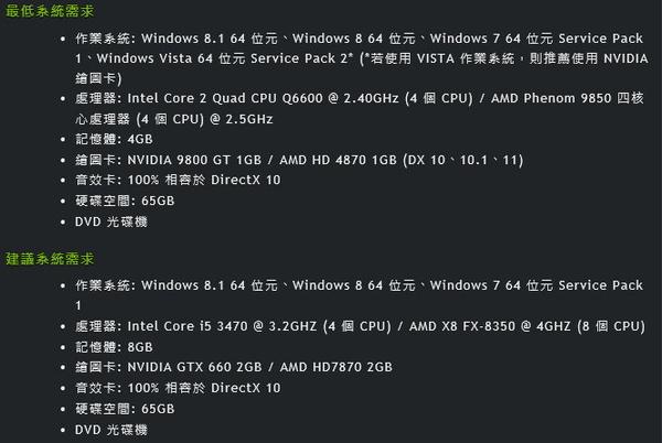俠盜獵車手 5 官方建議等級配備 技嘉Intel 六核心 GTX1650 高效能顯示