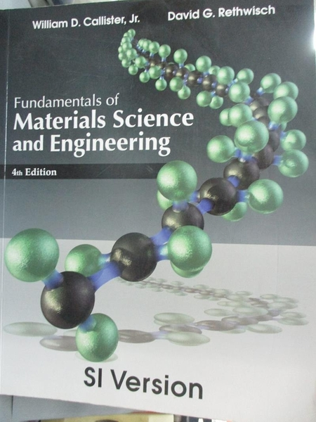 【書寶二手書T1/大學理工醫_PFP】Fundamentals of Materials Science and…