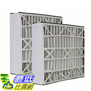 [106美國直購] 2 Trion Air Bear Filters 255649-102 Pleated Furnace Air Filter 20x25x5 MERV 8