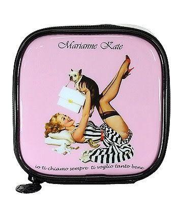 韓國Marianne Kate~華麗女孩系列1 輕巧化妝包甜心粉 《Life Beauty》