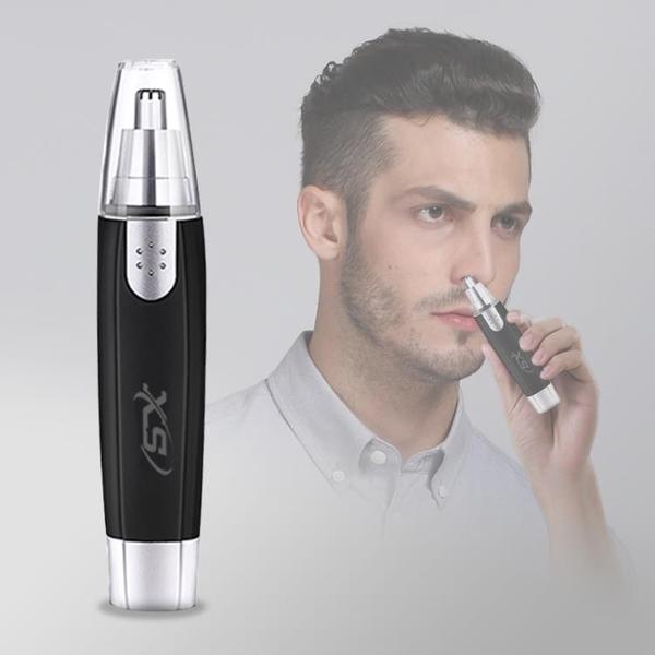 電動鼻毛器 電動鼻毛修剪器男士剃鼻毛器女用鼻孔剃毛器手動刮鼻毛剪刀 亞斯藍