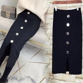 針織半身裙一步裙子秋冬新款女韓版小香風包臀中長款開叉高腰 限時熱賣