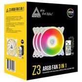 MONTECH 君主 Z3 ARGB 三合一組合包 風扇 散熱器 12CM風扇 發光風扇 RGB控制器