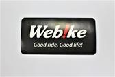 Web!ke LOGO 貼紙 - 黑