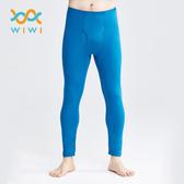 【WIWI】MIT溫灸刷毛內著發熱褲(翡翠藍 男S-3XL)