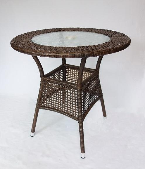【南洋風休閒傢俱】戶外休閒桌椅系列-75公分鋁合金休閒編藤餐桌  戶外餐桌 (HT317)
