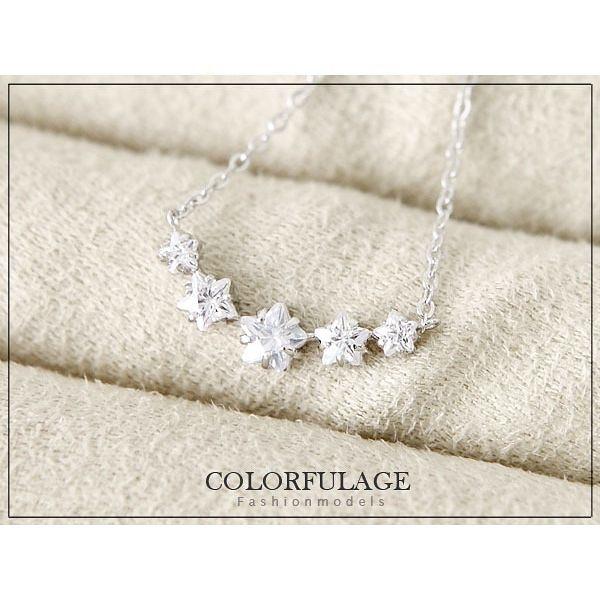 柒彩年代【NB434】排鑽星星鎖骨項鍊 韓國帶回!時尚氣質鎖骨短墜~單條價格