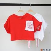 女童t恤短袖韓版休閒T恤兒童裝寬鬆上衣夏裝【淘夢屋】