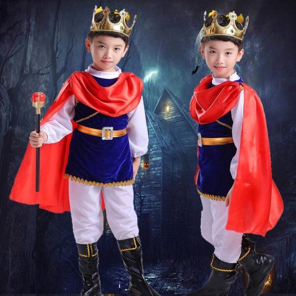 萬聖節服裝 萬圣節兒童服裝男童cospaly海盜國王角色扮演王子衣服表演套裝【小天使】