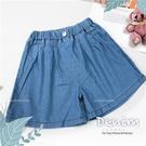 簡約素面牛仔寬褲裙(310536)【水娃娃時尚童裝】