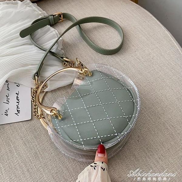 透明果凍法國小眾包包女包潮新款斜背包百搭洋氣側背錬條包 黛尼時尚精品