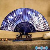古風日式可愛女式布夏季和風舞蹈折疊扇LY3885『愛尚生活館』