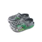 Crocs 涼鞋 前包後空 防水 灰色 恐龍 童鞋 206157-0DA no017