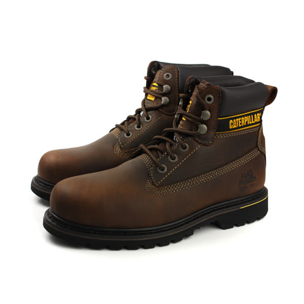 CAT HOLTON SB E FO HRO 靴子 鋼頭鞋 真皮 咖啡色 男鞋 CA708025 no067